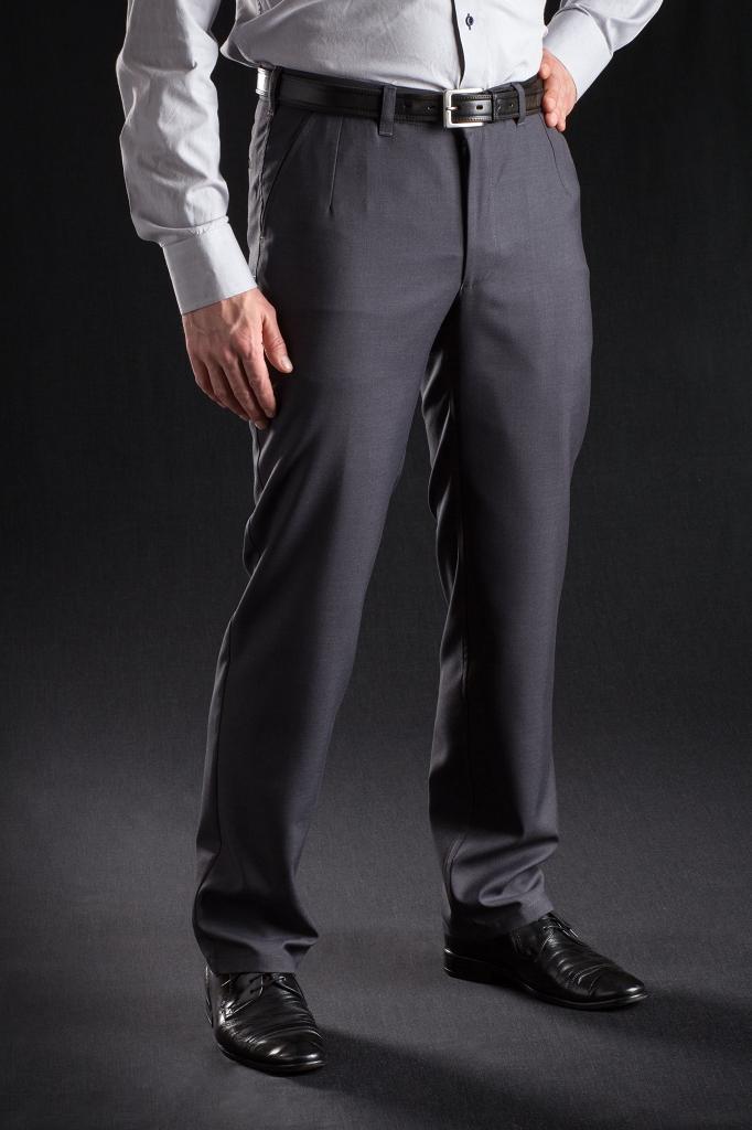 6e9723401b Spodnie wizytowe szare bez kantu